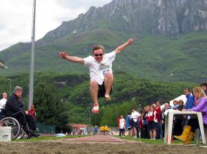 Sport disabili Val Camonica polisportiva atletica leggera meeting 2012 salto in lungo